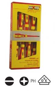 Assortimento di 7 cacciaviti VDE isolati 1000 volts Rexta 720.STP7