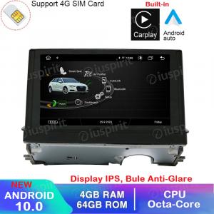 ANDROID 10 navigatore per Audi A3 2013-2018 GPS WI-FI Bluetooth MirrorLink 4GB RAM 64GB ROM Octa-Core 4G LTE Car Play Android Auto
