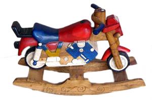 Moto a dondolo legno cm 100