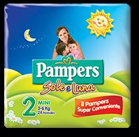 Pampers Sole e Luna - Mini Taglia 2 (3-6kg) - 21 Pannolini