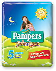 Pampers Sole e Luna Junior - Taglia 5 (11-25kg) - 16 Pannolini