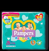 Pampers Baby Dry Mini - Taglia 3 (4-9kg) - 20 Pannolini
