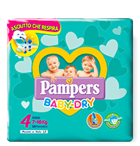 Pampers Baby Dry Maxi - Taglia 4 (7-18kg) - 19 Pannolini