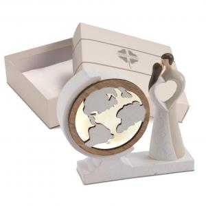 Quadrifoglio - collezione Sole, scultura Sposi con led