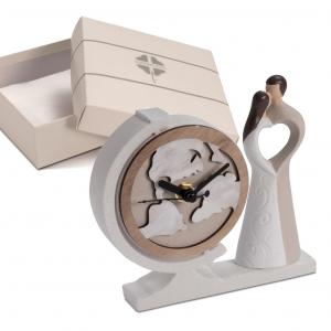 Quadrifoglio - collezione Sole, scultura Sposi con orologio