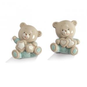 Quadrifoglio - collezione Felice, magnete a forma di orsetto