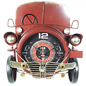 Orologio auto rossa metallo 36 cm