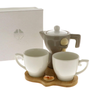 Quadrifoglio - collezione Asia, set 2 tazze con zuccheriera