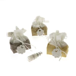 Quadrifoglio - collezione Gaia, sacchetto con gessetto e fragranza
