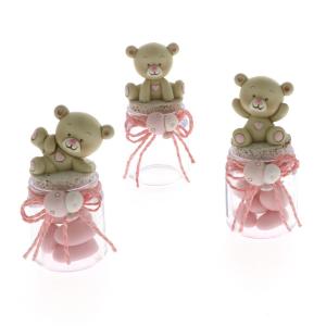 Quadrifoglio - collezione Cloe, barattolo con orsetto