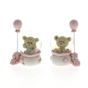 Quadrifoglio - collezione Cloe, palla acqua neve con orsetto
