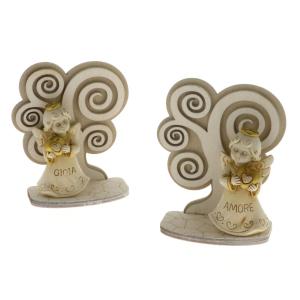Quadrifoglio - collezione Isa, angelo con albero