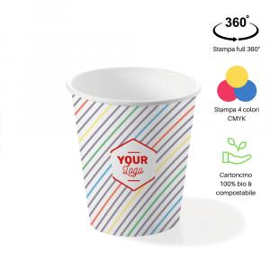 Bicchieri personalizzati biodegradabili cartoncino 360ml