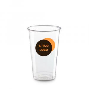 Bicchieri biodegradabili trasparenti personalizzati 250ml