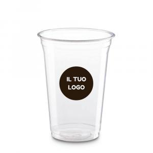 Bicchieri biodegradabili trasparenti personalizzati 400ml