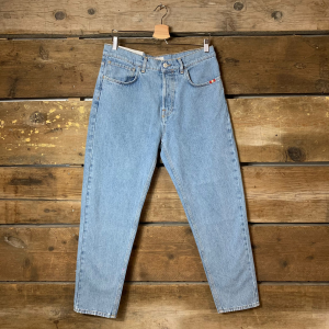 Jeans Amish Supplies Uomo Bleached Blu Chiaro