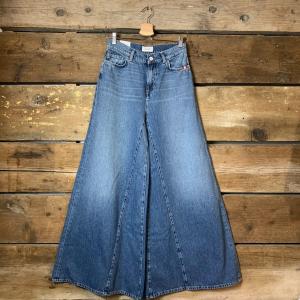 Jeans Amish Supplies Colette a Zampa Ampia Blu Medio
