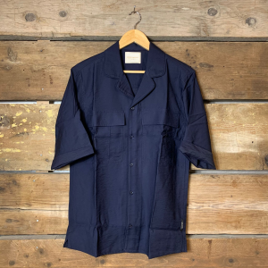 Camicia Scotch & Soda con Manica a 3/4 in Viscosa Blu Navy