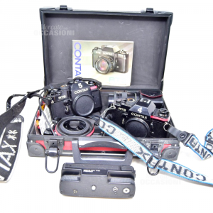 Machine Photographic 2 Corpi Brand Conyaxrts With Case 2 Obiettivi And Engine