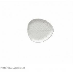 Tognana Piatto Bianco A Forma di Foglia di Alloro 16x14x3 cm Ricamato Per Abbellire la Tavola