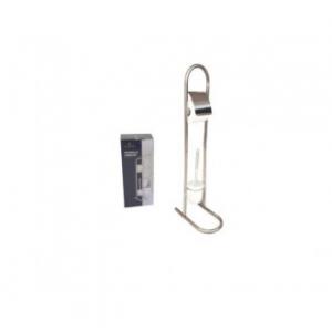 Porta Carta Igienica con Supporto Per Scopino In Metallo