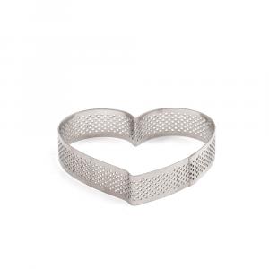 Sagoma Inox Microforata cuore cm. 10x9x h 2