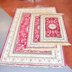 Tris Carpets White And Red Fantasy 170x120 Cm + 2x57x90 Cm