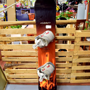 Snowboard And Lite Orange With Bindings Grey 107