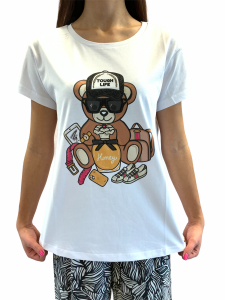 VERY SIMPLE T-SHIRT STAMPA ORSETTO