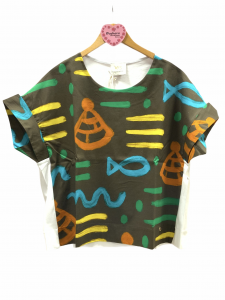 VERY SIMPLE MAGLIA STAMPA AFRICA