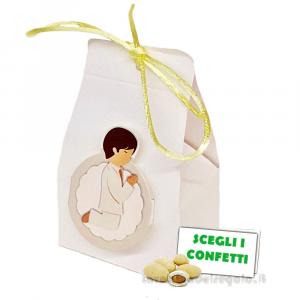 Portaconfetti con Bollino Bambino 4x3.5x6 cm - Scatole comunione bimbo