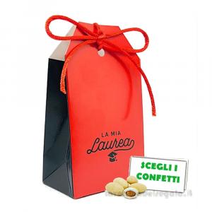 Portaconfetti Rosso e Nero con scritta 5.5x3.5x10 cm - Scatole laurea