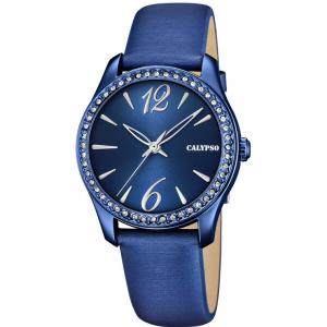 Orologio da polso donna Calypso blu con cristalli  K5717/6