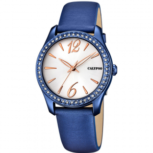 Orologio da polso donna Calypso blu con cristalli  K5717/3