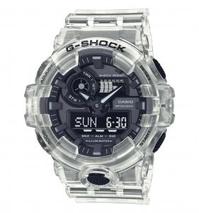 Casio orologio G-Shock, transparent white analogico-digitale