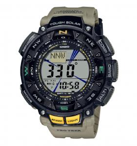 Casio Pro Trek, orologio analogico - digitale uomo multifunzione beige e nero