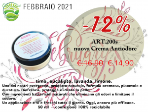 Nuova! Crema Anti-odore al Timo 50 ml
