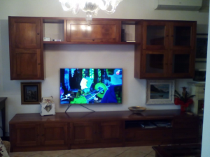 Living Room In Wood Sturdy 300 Cm Long With Case