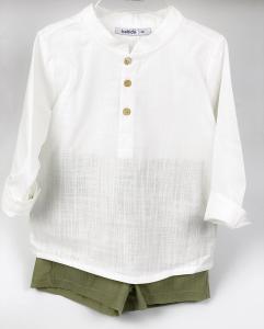 Completo camicia e short in cotone