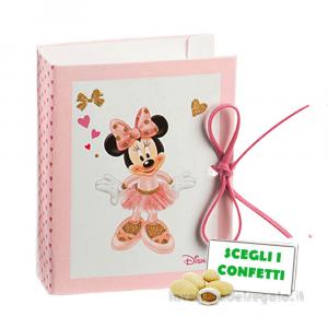 Portaconfetti Minnie Ballerina libro Rosa 7x6x3 cm - Scatole battesimo bimba