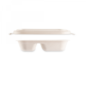 Combo vaschetta Brown ovale 2 scomparti  + coperchio