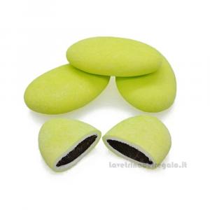 Conf. 5 pz - Confetti verdi al cioccolato William Di Carlo Sulmona - Italy