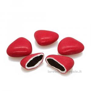 Conf. 5 pz - Confetti Cuore rossi al cioccolato William Di Carlo Sulmona - Italy
