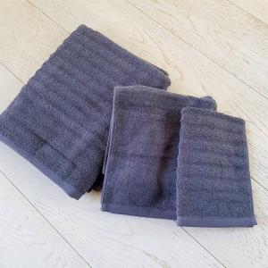 Asciugamani grigio fumo effetto onda