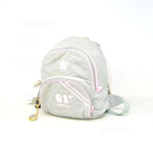 Backpack Baby Girl Chamomile In Sweatshirt Grey / Pink