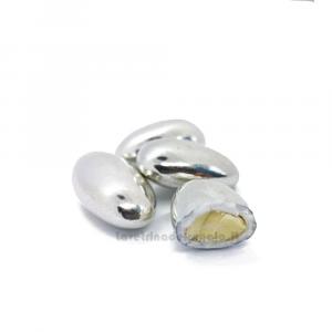 Conf. 5 pz - Confetti argento alla mandorla William Di Carlo Sulmona - Italy