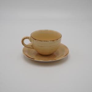 TAZZA CAFFE' CON PIATTO STONEWARE
