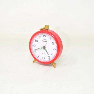 Allarm Clock Small Olimpia Red Working