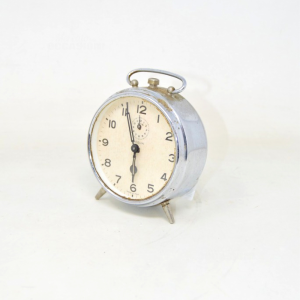 Allarm Clock Vintage Chromed Model Vigil Working