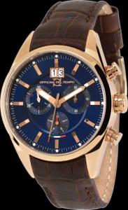 Orologio uomo Officina del tempo. Elegante Cronografo.